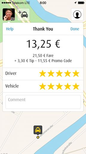 My Taxi App Screenshot